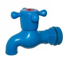 Кран водоразборный 1/2 пластм. синий /комплект/ SL