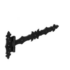 Петля стрела  ZBD 300 300х45х90х3.0мм декорат.  черная (10)