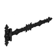 Петля стрела  ZBD 400 400х45х90х3.0мм декорат.  черная (10)