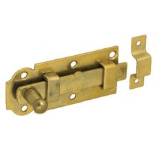 Задвижка дверн. W  80  80х30 с плоским ригелем  желт (10)