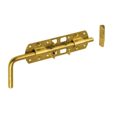 Задвижка дверн. WRG 240 240х60х2.0 с блокировкой  желт (10)