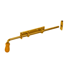 Задвижка дверн. WSP 420 420х190х50 пружин. с дер. ручк.  желт. (5)