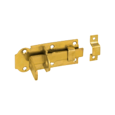Задвижка дверн. WZP 120 120х45х5.0 с простым ригелем  желт. (10)