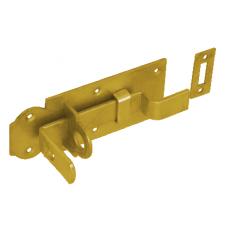 Задвижка дверн. WZW 140 140х55х5.0 с выгнутым ригелем  желт. (10)