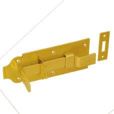 Задвижка дверн. WZW 180 180х65х6.0 с выгнутым ригелем  желт. (10)